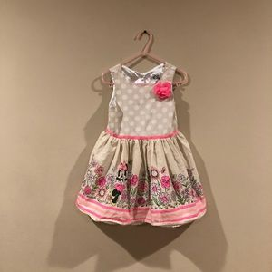 Disney Minnie Mouse white and pink flower dress